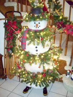 christmas trees and snowmen | christmas tree as snowman snowman christmas trees pictures christmas ...