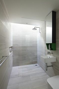 Wet Room Design Ideas If you are thinking about ways to spruce up your interior then you should look into wet rooms. What is a wet room you ask? Simple: its a new approach to bathroom design in which there is no tub shower screen or tray. Modern Bathroom Tile, Beige Bathroom, Bathroom Spa, Bathroom Floor Tiles, Grey Bathrooms, Small Bathroom, Tile Floor, Bathroom Trends, Beautiful Bathrooms