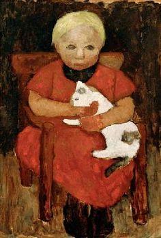 Modersohn-Becker, Paula : Child with cat