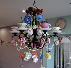 https://flic.kr/p/dfRNUa | Shabby Chic Chandelier | Our crazy mad chandelier