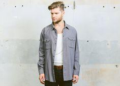90s Mens CORDUROY Shirt . Vintage Grey Gray Flap Pockets 1990s Grunge Cord Minimalist Normcore Hipster Boyfriend Gift Idea . XXL