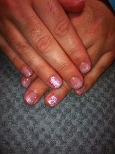 Pink & white butterflies with soft pink tips!