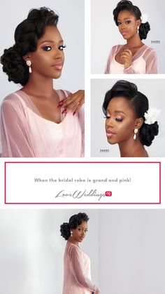 When the bridal robe is grand and pink! Bride Pictures, Bridal Robes, Pink, Bridal Pictures, Pink Hair, Roses