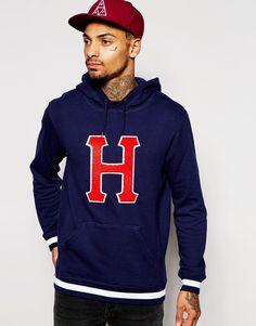 Huf HUF Hoodie With Classic H Logo And Hood Print - Blue