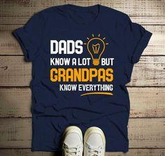 Men's Funny Grandpa Shirt Grandpas Know Everything TShirt Grandpa Gift Idea Grandpa T-Shirt