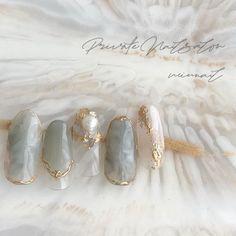 Elegant Nails, Stylish Nails, Trendy Nails, Korean Nail Art, Korean Nails, Summer Acrylic Nails, Best Acrylic Nails, Nail Art Designs Videos, Nail Designs