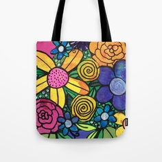I'm loving my flower art on this tote bag! It was a great gift for my mom. My Flower, Flower Art, Flowers, Canvas Bags, Mixed Media Artists, Art Decor, Great Gifts, Reusable Tote Bags, Colorful