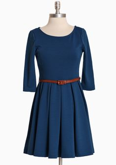 "Camilla Pleated Dress 36.99 at shopruche.com. Simple and sophisticated, this blue dress is crafted in a soft knit with three-quarter length sleeves, and optional faux leather belt, and a classic silhouette.78% Polyester, 18% Rayon, 4% Spandex, Made in USA, 33"" length from top of shoulder"