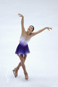 Haruka Imai of Japan  Ladies Short Program  Cup of China  2013, Purple (Blue?) Figure Skating / Ice Skating dress inspiration for Sk8 Gr8 Designs.