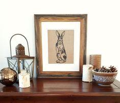 Fox Bedroom Wall Art Hanging - Unframed - Housewarming Gift - Wall Art Girls Room - Art Kids Room - Animal Print - Gift Ideas for Mom Kids Room Art, Art For Kids, Fabric Art, Linen Fabric, Fox Print, Screen Design, Kitchen Wall Art, Hanging Wall Art, Bedroom Wall