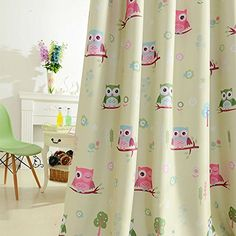 New Arrival Kids Curtains for Living Room Windows Beige Curtains Voile Curtains Baby Owl Curtains Drapes Fabric Only 1 Piecelot -- Read more reviews of the product by visiting the link on the image.