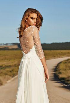 Wedding dresses 3/4 Sleeves bohemian beach by JulietWeddingDresses