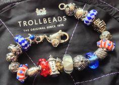My Summer/July4th bracelet. Love how it turned out!  #Trollbeads