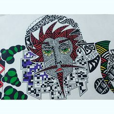 so.. decided to put some colour here.. still in progress. . . .. .  #art #artwork #instaart #lines #paint #pencil #pen #paper #sketch #illustration #f4f #l4l #creativity #doodle #colour #handmade #drawing #instagood #graphic #geometric #markers #psychedelic #featuregalaxy #markers