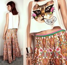 1970s palazzo pants // paisley print by BexVintage on Etsy, $35.00