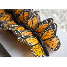 Realistas mariposas artificiales hechas con plumas. Múltiples opciones como decoración en fotografía de bebés/niños, situándolas alrededor o incluso sobre el propio bebé. Incluye un alambre para que pueda ser utilizado en diademas, coronas, ojales, ramos de flores, etc.