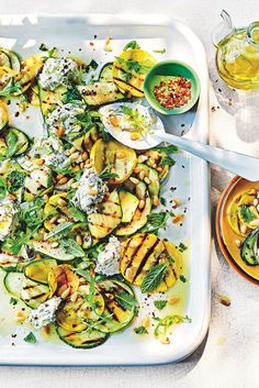 Food and home - Grilled courgettes with ricotta