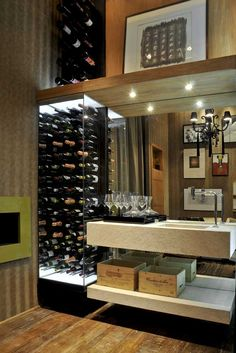 New Home Bar Storage 33 Ideas Bar Sala, Home Wine Cellars, Modern Home Bar, Estilo Interior, Wine Cellar Design, Wine House, Wine Wall, Wine Cabinets, Wine Storage