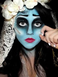 Flawless Emily makeup from Tim Burton's Corpse Bride. - 12 Corpse Bride Cosplays
