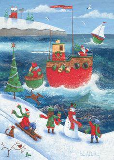 Coastal Christmas Photograph - Coastal Christmas Fine Art Print