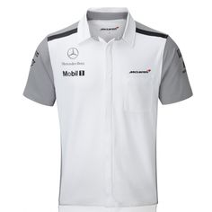 McLaren-Mercedes - Camisa de Equipo 2014 - Fastlap Racing - Passion for Speed Uniform Shirts, Work Uniforms, Team Shirts, Work Shirts, Casual Shirts, Corporate Shirts, Corporate Uniforms, Corporate Wear, Polo Shirt Design