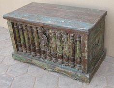 Elephant Original - Indian Painted Box (EI-161) - Indian Furniture   Elephant Interiors