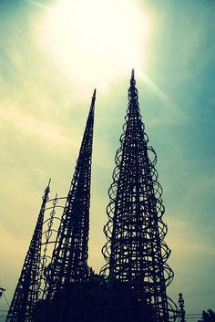 Watts towers - I was born in Lynwood during the Watts riots. My mom could hear the sirens and smell the smoke. She was so scared.