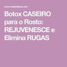Botox CASEIRO para o Rosto: REJUVENESCE e Elimina RUGAS