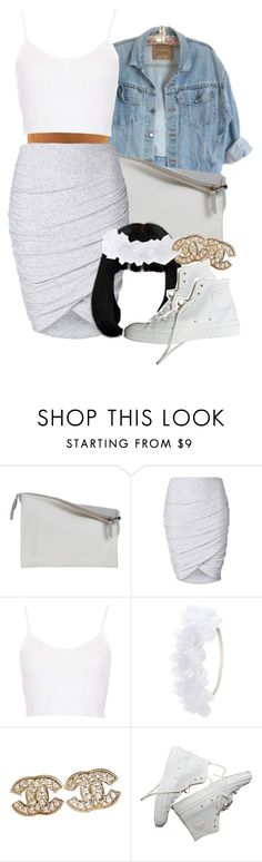 """"""":)"""" by lovebrii-xo ❤ liked on Polyvore featuring Sabrina Zeng, Witchery, Topshop, Charlotte Russe, Chanel, women's clothing, women, female, woman and misses"""