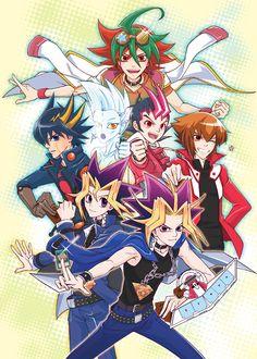 Yu-Gi-Oh! - Yugi, Atem, Jaden, Yusei, Yuma, Astral, Yuya