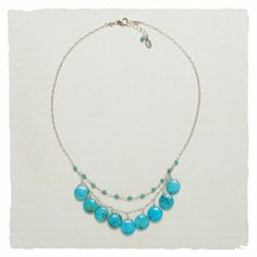 I found the Turquoise Skies Necklace at ArhausJewels.com.