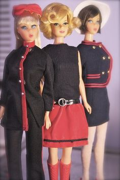 Black & Red Barbies.