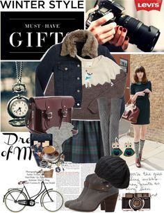 """Levi's Holiday Campaign"" by bittersweet89 ❤ liked on Polyvore"
