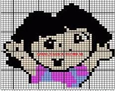 Patronen Dora om te borduren, haken, mazen, naaien, plakken - Hobby