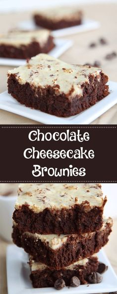 Chocolate Cheesecake Brownies - YUM!