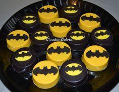Batman chocolate covered Oreos