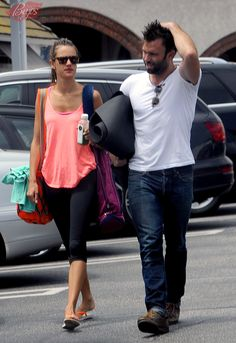 Alessandra Ambrosio and husband Jamie Mazur are dripping in sweat after yoga workout in LA - July 7, 2013
