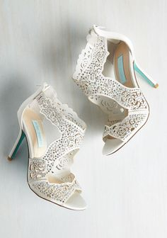 Whatever opulent occasion awaits you know these ivory heels by Betsey Johnson will be with