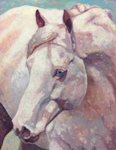 Horse Portrait in oil ('painterly as opposed to 'traditional' style)