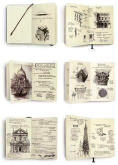 Sketchbook / Architecture - Sketchbook drawings by Chema Pastrana Voyage Sketchbook, Travel Sketchbook, Sketchbook Drawings, Drawing Sketches, Sketchbook Layout, Moleskine Sketchbook, Drawing Ideas, Small Sketchbook, Kunstjournal Inspiration