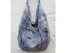 Large hobo bag slouchy tote handbag purse shoulder by BukiBuki