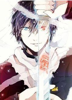Anime/manga: Yato and Yukine (Noragami) Noragami Anime, Yatogami Noragami, Manga Anime, Anime Art, Noragami Cosplay, Yato And Hiyori, I Love Anime, Awesome Anime, Awesome Art