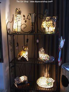 Tiffany cat lamps at the CAT SHOP www.depoezenshop.com