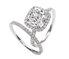 Harry Winston Engagement Ring Micropave Ring Cushion Cut Cushion Cut Micropave Diamond Engagement Ring Featured Here In Carats This Is The Engagement