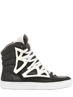 RIP OFF'S, HIGHTOP SNEAKERS: i feel  like these only look good in profile, but they look really good in profile. $211