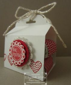 valentines gift made with the Stampin Up Scalloped Tag punch and Language of Love stamp set