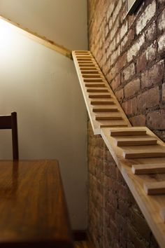 CAT -LADDERS: USA - seems much easier for an elderly cat to negotiate than standard stairs Cat Ramp, Cat Stairs, Diy Cat Toys, Cat Towers, Cat Playground, Cat Shelves, Cat Enclosure, Reptile Enclosure, Cat Condo