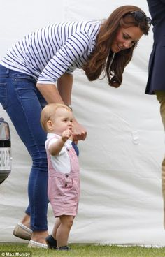 Father's Day Prince George joins his mummy Catherine Duchess of Cambridge at a Polo match his Father William Duke of Cambridge participates in.