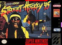 Street Hockey is like ice hockey without ice and in urban environments with no-holds barred rules. Instead of ice skates, roller blades are used as players can pick from nine different skaters and assemble their squad in a series of game modes. Street Hockey, Super Nintendo Games, Pc Engine, Game Sales, Old Games, Ice Skating, Retro, Video Game Console, Pop