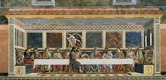 Andrea del Castagno - The Last Supper, Refectory, convent of Sant´Apollonia, Florence (1447)